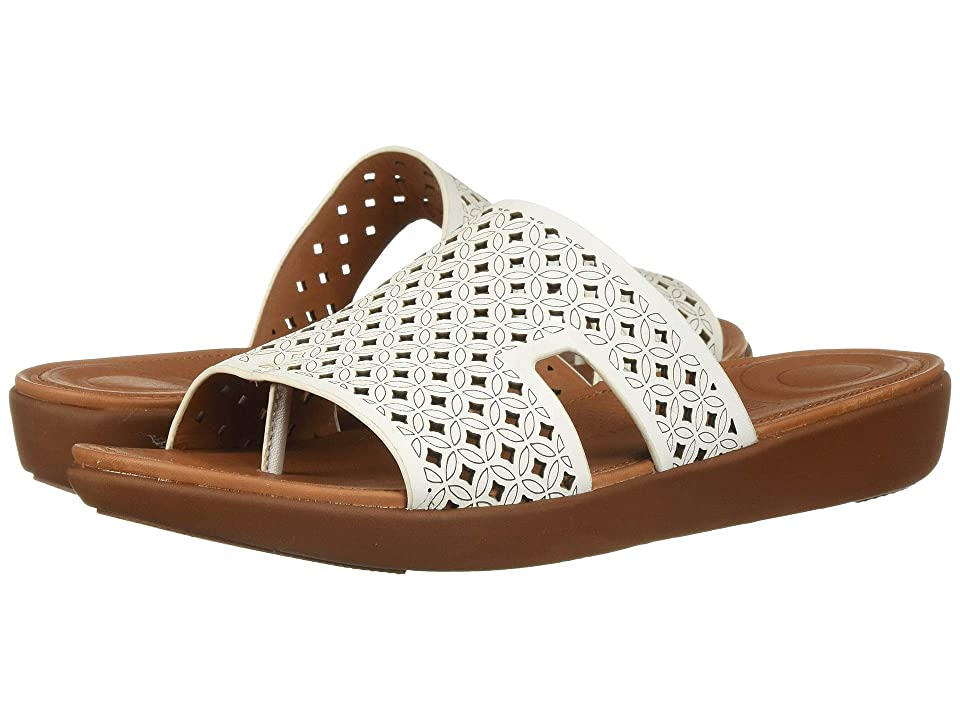 6a6f8a8a38f1e7 FitFlop H-Bar Slide Sandals Latticed Leather (Urban White) Women s Slide  Shoes