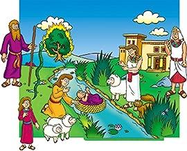 Little Folk Visuals / Betty Lukens Beginners Bible - Moses Flannelboard Figures - Pre-Cut