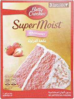 Betty Crocker Supermoist Strawberry Cake, 400 gm