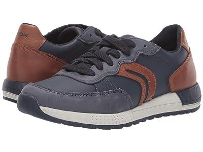 Geox Kids Jr Alben 8 (Big Kid) (Blue/Brown) Boys Shoes