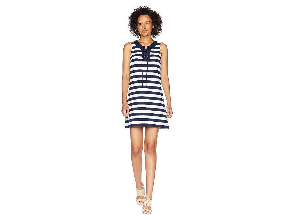 Tommy Bahama Stripe Right Sleeveless Tie Front Dress (Ocean Deep) Women