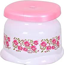 Fuscia® Deluxe Flora Plastic Bath Stool, 21 Cms X 22 Cms (Multicolor)