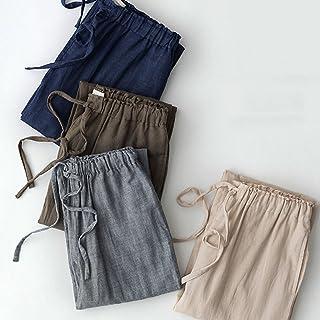 ハクチョウ(hakucho) ルームパンツ  長パン ロングパンツ メンズ ポケット付け カジュアル 無地 パジャマのズボン  ルームウェア 部屋着 春夏パジャマ