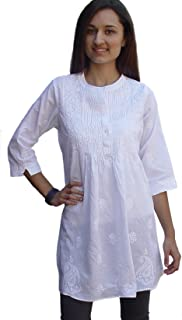 Ayurvastram Pure Cotton Hand Embroidered Tunic, Top, Kurti, Blouse