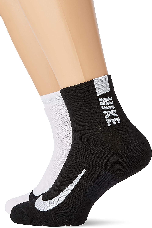 Nike Unisex-Adult Unisex Multiplier Running Ankle Socks (2 Pair)