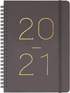 """2020-2021 Planner - Weekly & Monthly Planner with Tabs, July 2020 - June 2021, Flexible Cover with Twin-Wire Binding, Banded, 6.45"""" x 8.45"""""""