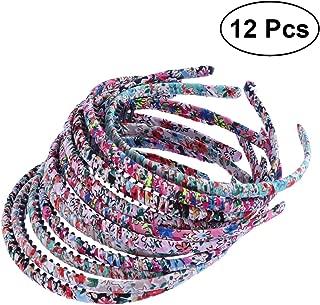 FRCOLOR 12Pcs Teeth Comb Headband Hair Hoop Headband Teeth Comb Hair Band for Women(Random Color)