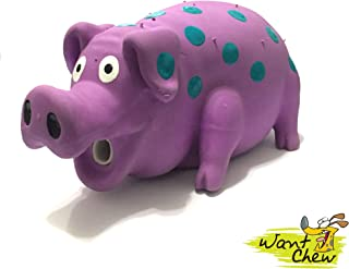 WantChew Latex Dog Squeaky Chew Toys, Oink Oink Pig 8.3