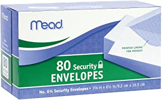 Mead #6 3/4 Security Envelopes, 80 Count (75212)