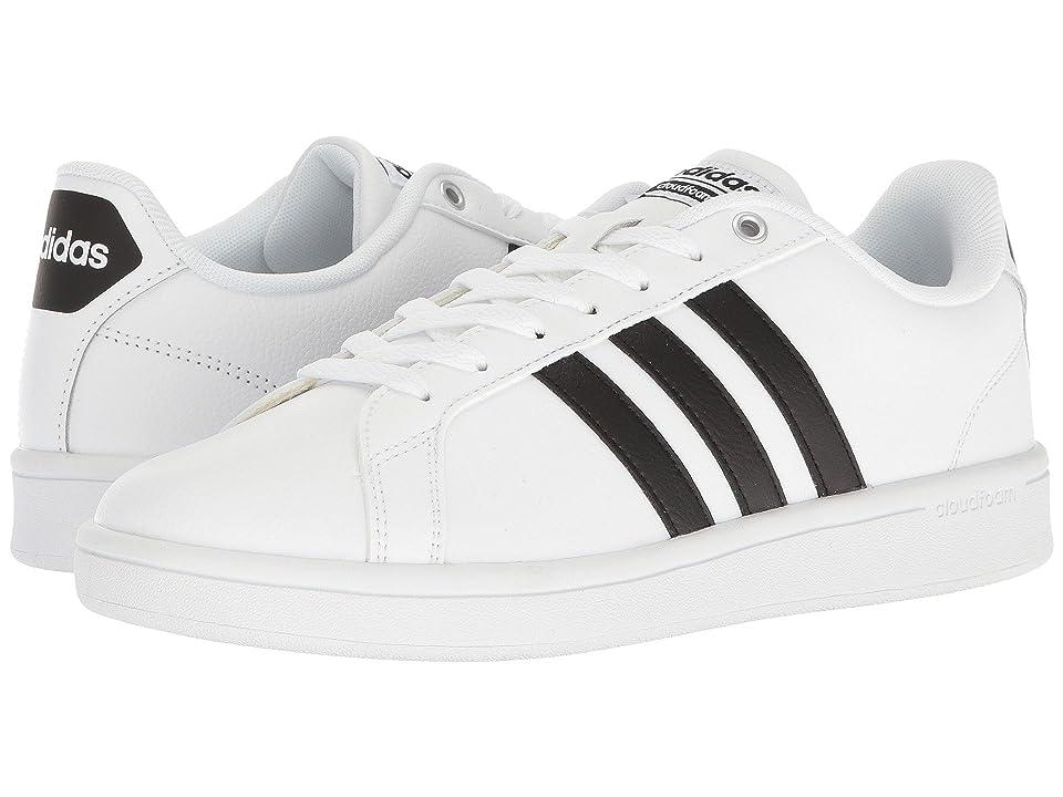 adidas Cloudfoam Advantage Stripes (White/White/Black) Men