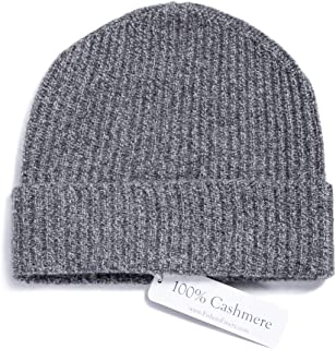 Fishers Finery Men s 100% Pure Cashmere Ribbed Cuffed Hat  Ultra Plush dfa6ed143b