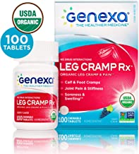 Genexa Leg Cramp Rx – 100 Tablets | Certified Organic & Non-GMO, Physician Formulated, Homeopathic | Leg Cramp & Pain Relief Medicine