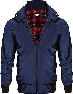 COOFANDY Men's Wool Blend Coat with Detachable Scarf Single Breasted Trench Coat Winter Warm Pea Coats Woolen Jackets