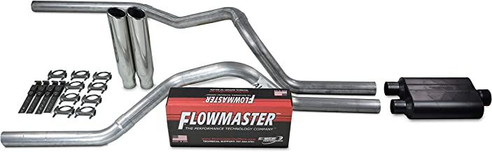 Truck Exhaust Kits - Shop Line dual exhaust system 2.5 AL pipe Flowmaster 40 2.5