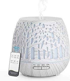 Simpeak Aroma Diffuser 400 ml, LED ultrasone geurverstuiver met afstandsbediening, essentiële olie aromatherapie diffuser ...