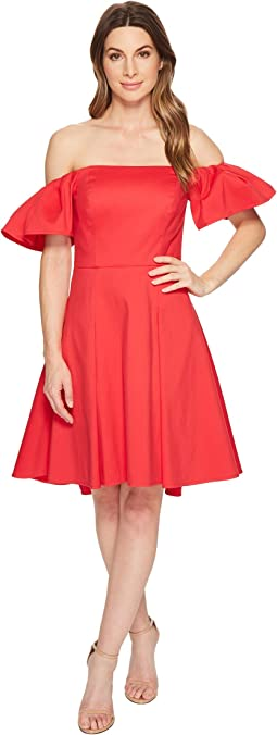 a441cc693b79 Maggy london elbow sleeve ruffle flounce dress | Shipped Free at Zappos