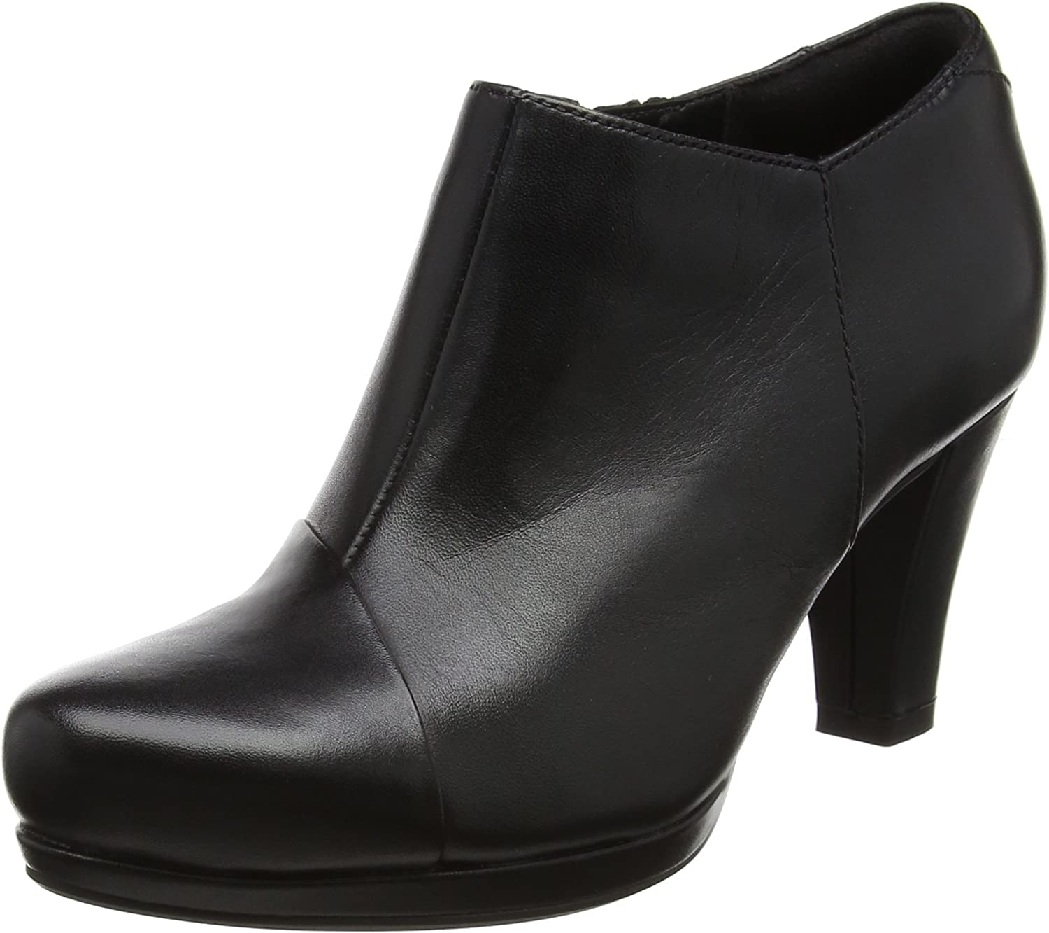 Clarks Chorus Jingle - Black Leather Womens Boots