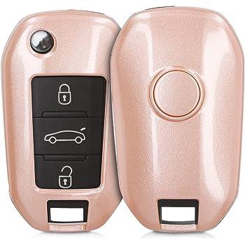 Viola Cover protettiva Chiave per auto Peugeot 208 308 5008 2008 Expert Citroen C3 C4 Spacetourer Chiave pieghevole//Colore