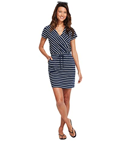 Vineyard Vines Sankaty Striped Wrap Dress Women