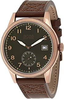 Hugo Boss Mens Quartz Watch, Chronograph Display and Leather Strap 1513669