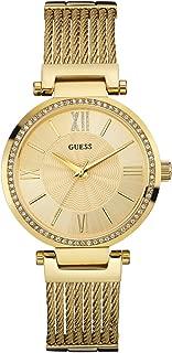 Guess Soho Quartz Movement Gold Dial Ladies Watch W0638L2