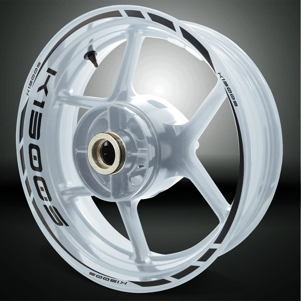 Reflective ファクトリーアウトレット 正規品送料無料 Black Motorcycle Rim Wheel Decal Sticker Accessory Fo