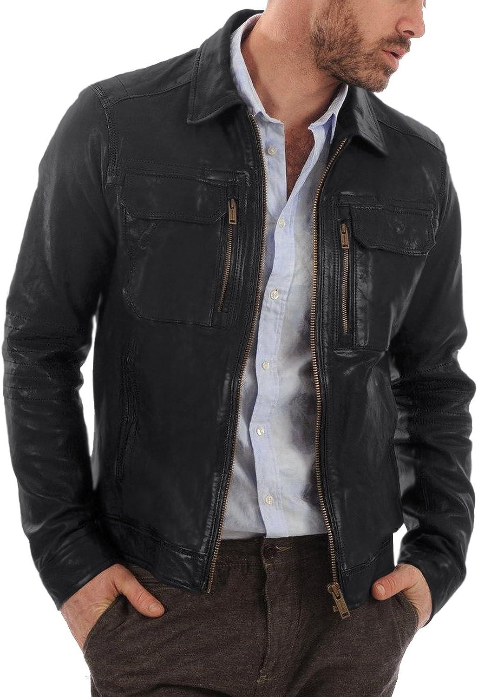 Laverapelle Men's Black Genuine Lambskin Leather Jacket - 5483