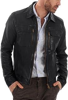 Laverapelle Men`s Genuine Lambskin Leather Jacket (Black, Regal Jacket) - 1501483