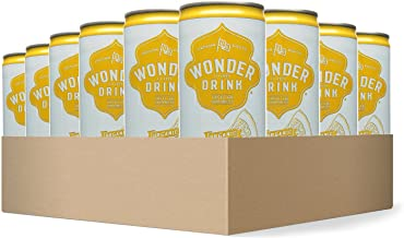 Wonder Drink Kombucha, Organic Green Tea with Lemon Sparkling Fermented Tea, 8.4oz Can (Pack of 24)