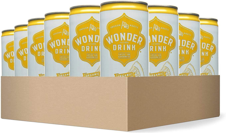 Wonder Drink Kombucha Organic Green Tea With Lemon Sparkling Fermented Tea 8 4oz Can Pack Of 24