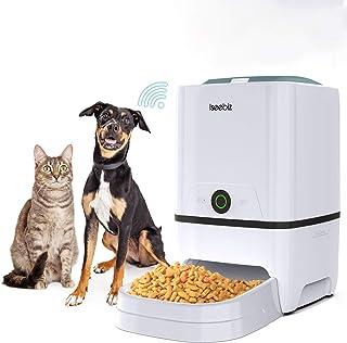 Iseebiz Automatic Pet Feeder 5L Smart Feeder Dog Cat Food Dispenser with WiFi App Control,Voice Recording,Timer Programmab...