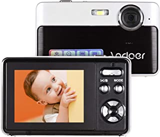 Andoer Portable Mini Digital Camera 24 Megapixels High Definition 2.4 Inch IPS Screen 3X Digital Zoom Face Detection with ...