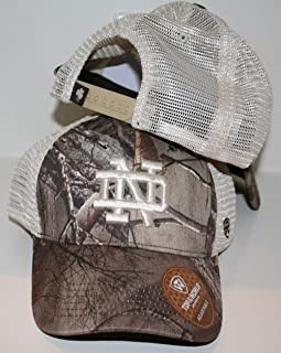 notre dame fitted camo hat