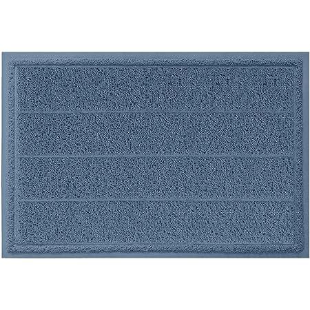 Gorilla Grip Durable Indoor Door Mat, Absorbent Quick Dry Boot Scraper, Large Size, Heavy Duty Doormats, Commercial Waterproof Striped Doormat, Easy Clean, Low-Profile Mats for Entry, 35x23, Navy Blue