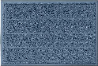 تشک درب داخلی با دوام ، گوریلا گریپ ، 35x23 ، اندازه بزرگ ، درب های سنگین ، درب راه راه ضد آب ضد آب ، تشک های تمیز آسان ، با مشخصات کم برای ورود ، مناطق دارای ترافیک بالا ، آبی سرمه ای