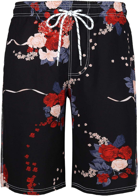 Segindy Men's Fashion Personality Printed Shorts Summer Quick Dr