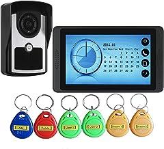 Videodeurbel, Intercom, Huisbeveiligingssysteem, Bekabelde Videodeurtelefoon, 7 Inch Touchscreenmonitor + IR-Nachtzichtcam...