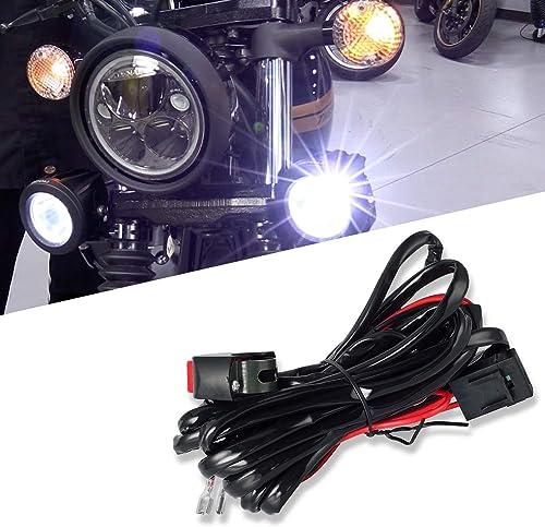 Win Power Universel LED Kit de relais de commutation de faisceau de câblage avec 2 connexions de lampe pour moto Lumi...