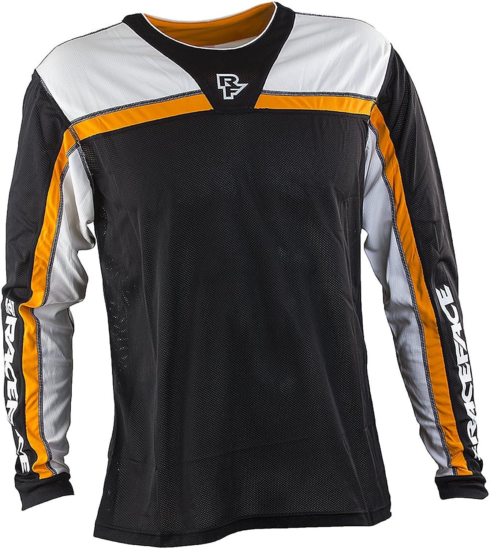 Race Face Stage Long Sleeve Jersey, Black orange, Medium
