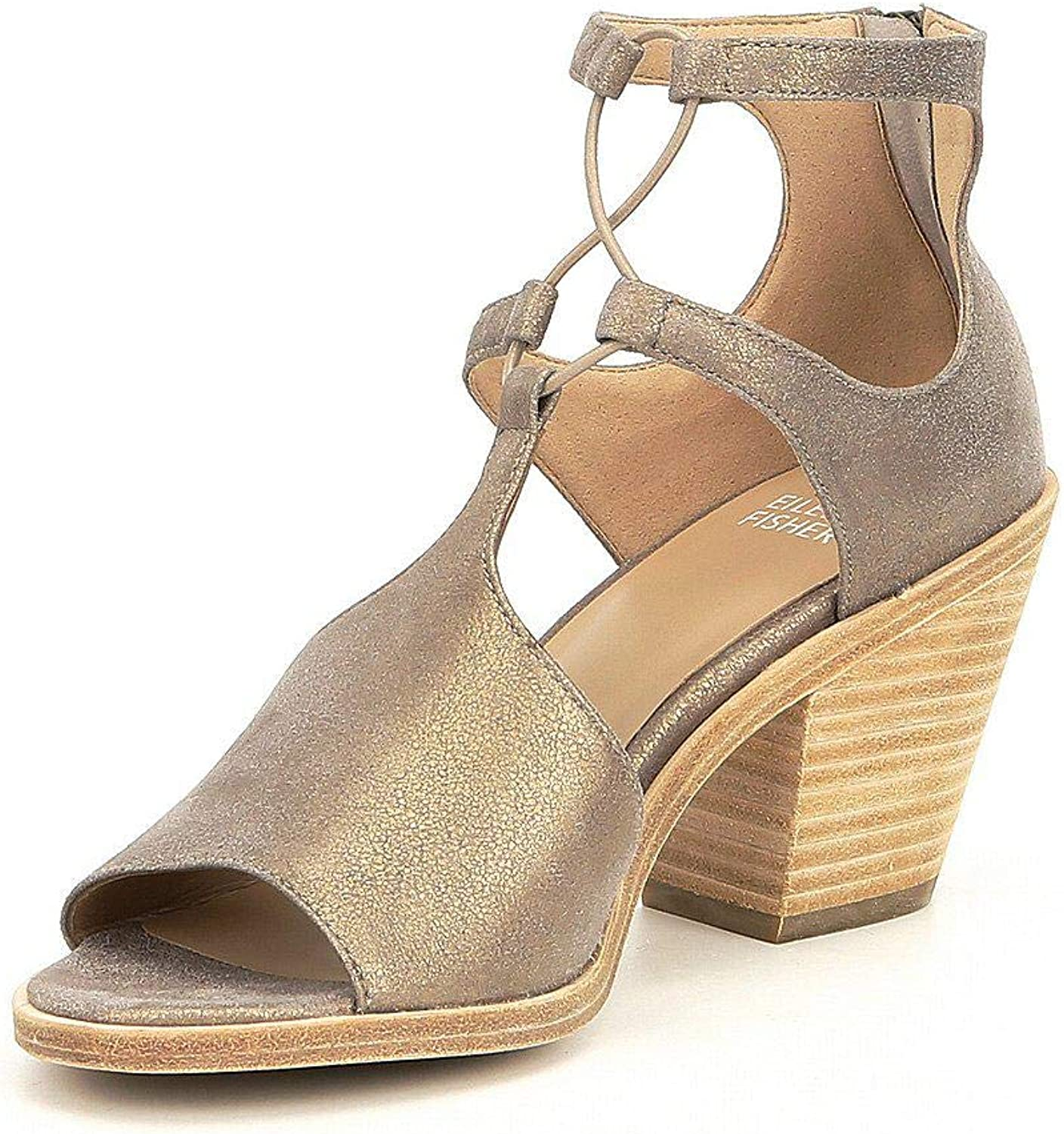 EileenFisher Womens Lou-Ms Suede Open Toe Casual Ankle Strap Sandals