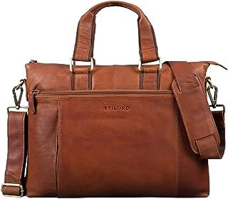 """STILORD Lionel"""" Leder MacBooktasche 15 Zoll für Macbooks DIN A4 Herren Damen Vintage Umhängetasche Messenger Bag Aktentasche"""