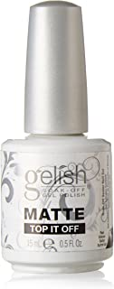 Gelish Soak Matte Top It Off Sealer Gel Nail Polish, 0.5 Ounce