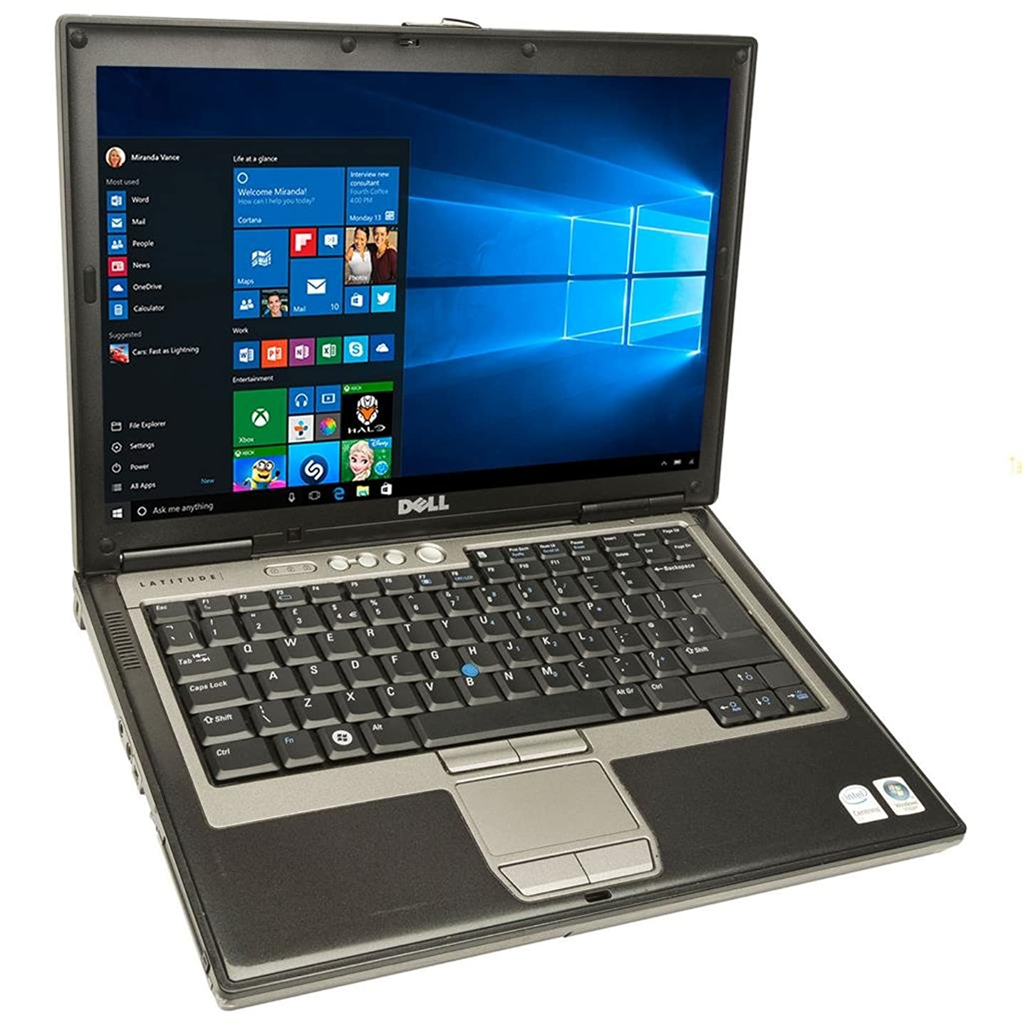 Dell Latitude D620 Laptop Notebook - Core Duo 1.60GHz - 2GB DDR2 - 80GB - DVD+CDRW - Windows 10 Home 32bit - (Renewed)