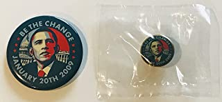 Barack Obama campaign button and lapel pin president inauguration shepard fairey art 44th
