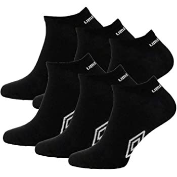 12 Pairs UMBRO Mens Official TRAINER Liner Sports Socks Cotton Rich Adults 6-11