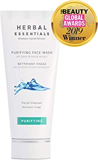 Herbal Essentials Purifying Face Wash With Neem & Hyssop Extracts, Natural Cleansing Ingredients, Reduces Pore Size & Fights Acne, Leaves Skin Smooth, Refreshed & Clarified, Premium Skincare 100ml