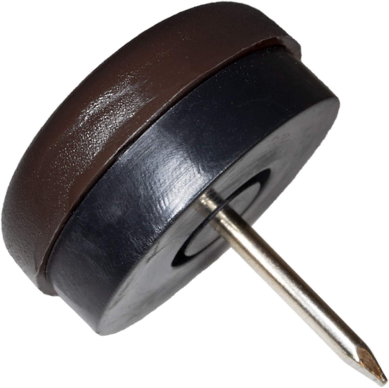 Möbelgleiter Kunststoff mit Nagel Dekorativer Nagel Feuchtigkeitsfestes Pad