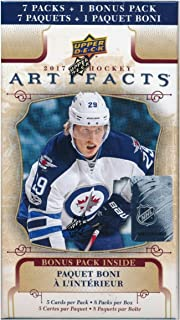 2017/18 Upper Deck Artifacts NHL Hockey Factory Sealed Retail Box! Super Hot! Brand New! Look for Rookie Redemptions, Frozen Artifacts, Auto-Facts Autographs, Cool Parallels & More! WOWZZER!
