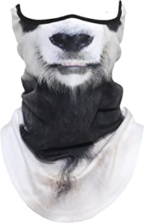3D Animal Neck Gaiter Warmer Windproof Face Mask Scarf for Ski Halloween Costume