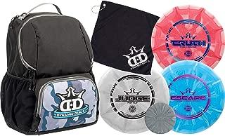 Dynamic Discs Disc Golf Starter Set | Cadet Backpack Disc Golf Bag Included | 17 + Disc Capacity | Prime Burst Disc Golf Frisbee Set Included | Putter, Midrange, Driver | 170g Plus | Colors Will Vary